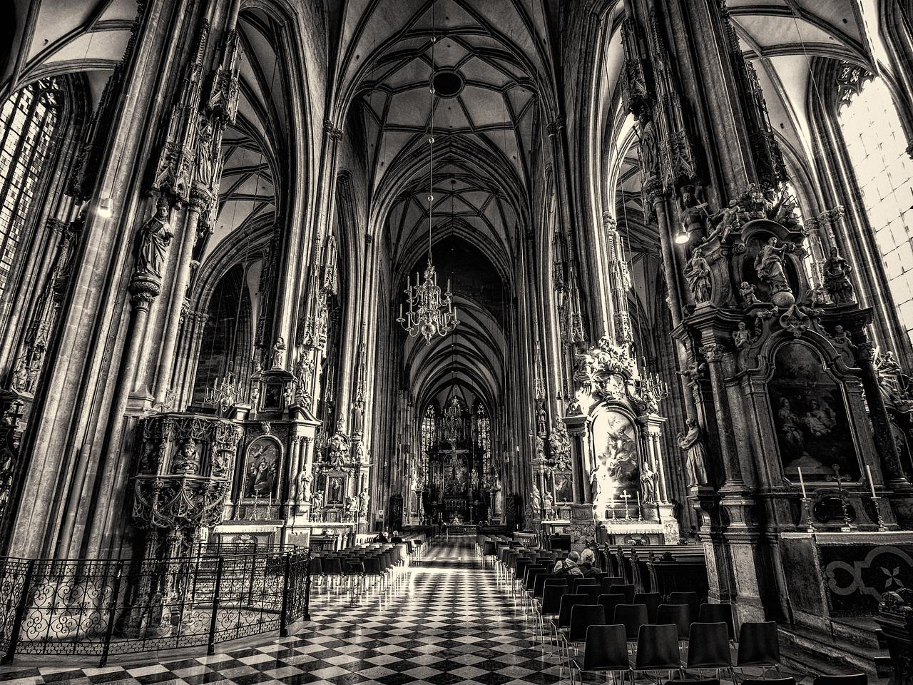 Inside Stephansdom, Vienna, Austria