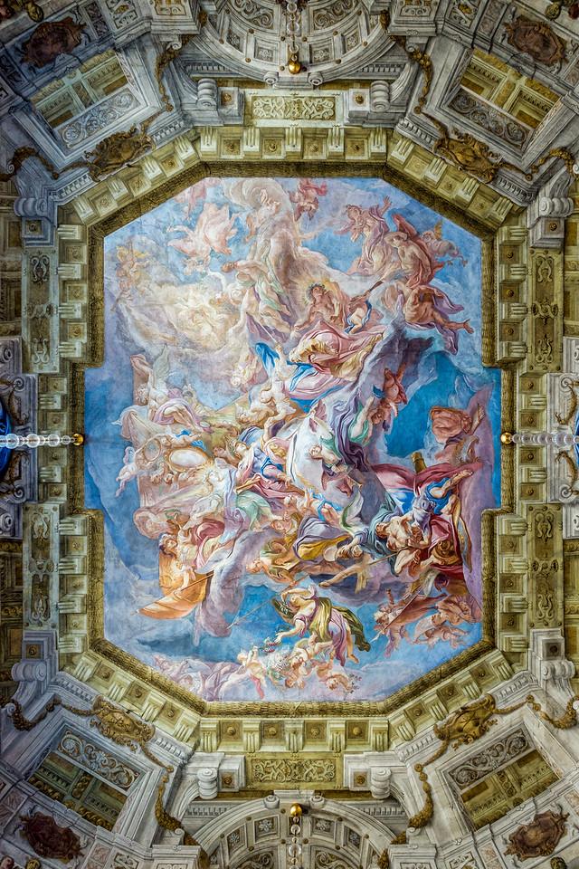 Belvedere Museum ceiling, Vienna, Austria
