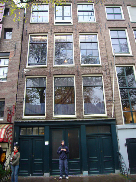 Outside the Anne Frank house after just touring the inside.  A unique and memorable experience.  Saw the original diaries and the rooms they had to hide in.