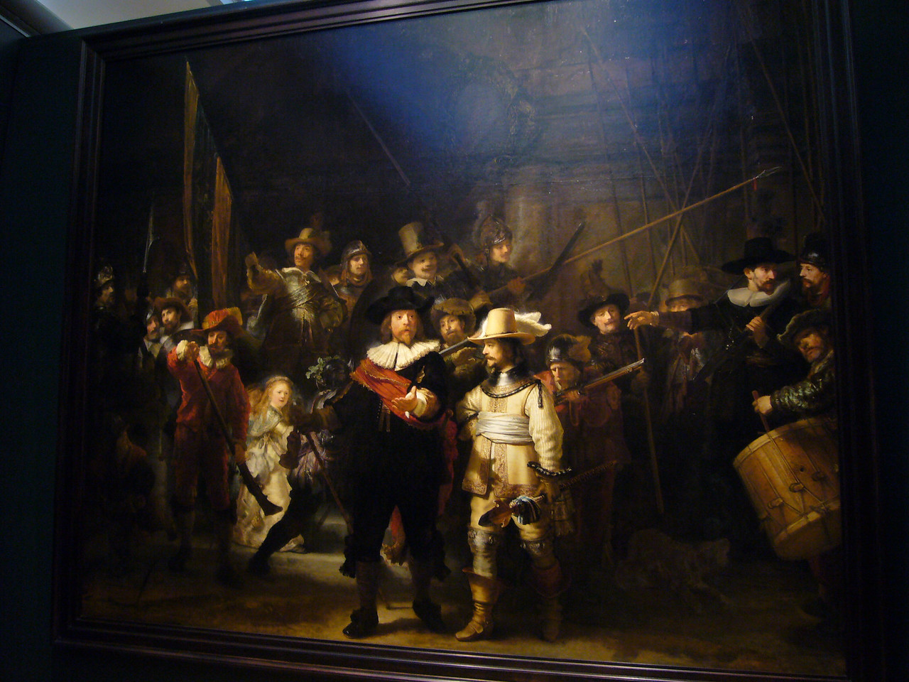 The museums most famous piece: Rembrandt's Nightwatch.