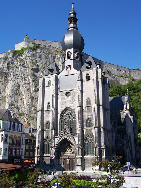 The main attractions in Dinant - the Notre Dame Church and the Citadel.  The Citadel is a fortress built in 1820 by the Dutch and later occupied by German invaders in World Wars I & II.  Dinant is also the 1814 birthplace of Adolphe Sax, inventor of the saxophone.