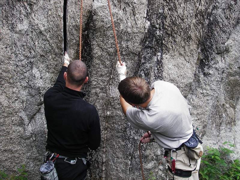 I pretty much taught a crack-climbing clinic at VDO.  Cracks aren't as common in Europe as the states and I was happy to pass on whatever knowledge I could.