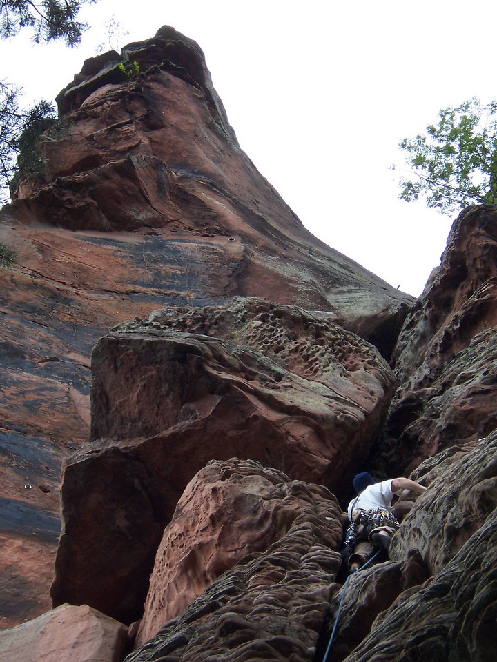 The last climb of the trip.  Did this 2 pitch tower with Alec and Ashley.  A really fun climb with an excellent summit!