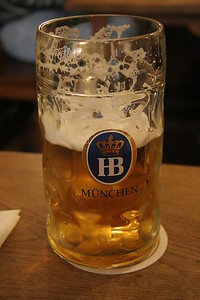 Hofbrauhaus bier, Munich, Germany