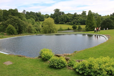 The lake Churchil created at his home Chartwell, Kent, England
