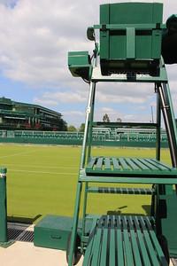 Umpire's chair at an outer court, Wimbledon, England