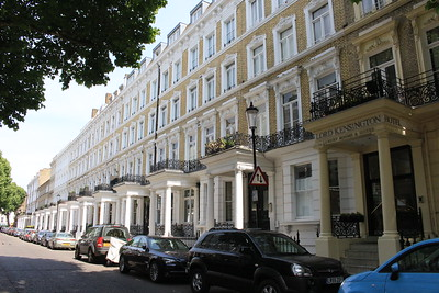 Typical block of hotels near Earls' Court, London, England