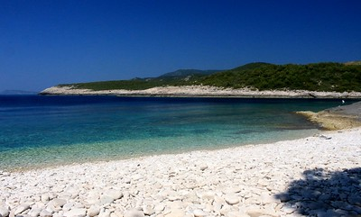 Beach on island of Vis, Croatia