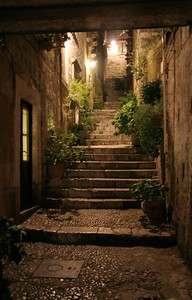 Staircase in old town, Dubrovnik