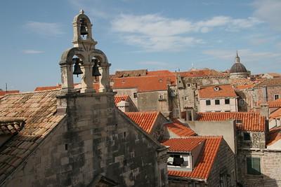 Churchbells and rooftops of Dubrovnik, Croatia