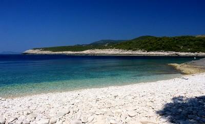 Beach on island of Vis, Croatia