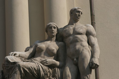 Heroic statuary, Prague, Czech Republic