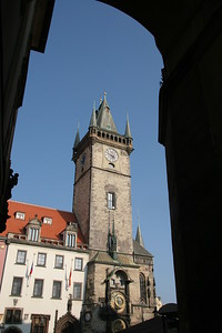 Old Town Hall Tower, with astronomical clock, Prague, Czech Republic