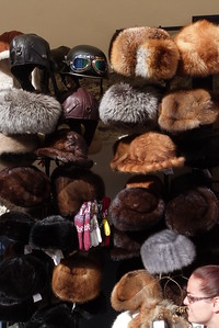 Hats for sale, Budapest, Hungary