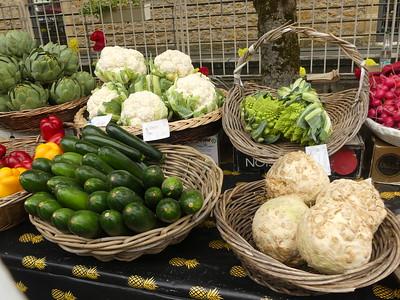 Market day in St. Cyprien, Dordogne