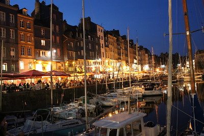 Evening in Honfleur, on English Channel