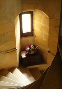 Staircase in Chateau de Puymartin, Dordogne