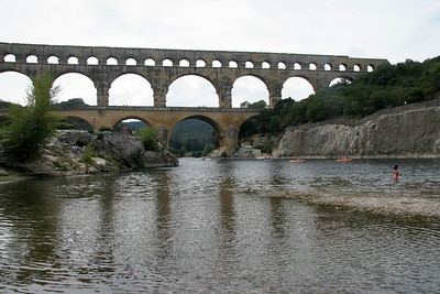 Pont du Gard, built by the Romans