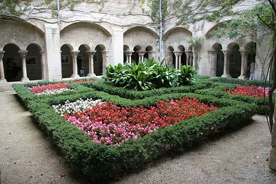 The cloister at St. Paul de Mausole, the asylum where Vincent Van Gogh did some of his most famous paintings