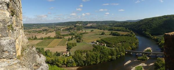 Chateau de Castelnaud, overlooking the Dordogne river,
