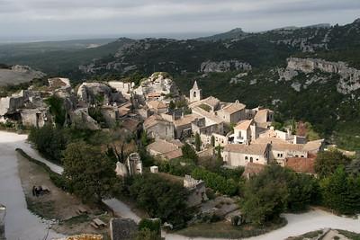 The town below Les Baux, near St. Remy