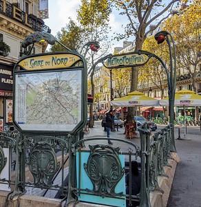 Metro Station at Gare du Nord, Paris