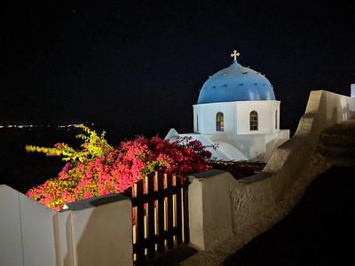 Santorini at night