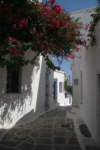 Street scene on island of Paros