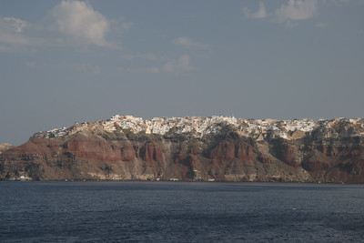 Santorini, from the water