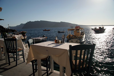 Seaside restaurant in Oia, Santorini
