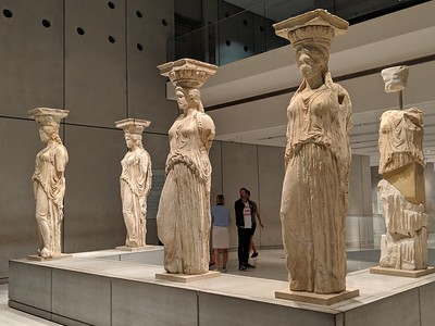 The Caryatids, Acropolis Museum, Athens