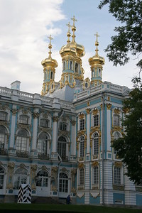 Gilded cupolas, Catherine's Palace, near St. Petersburg, Russia