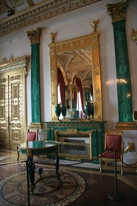 The Malachite Room, Winter Palace, St. Petersburg, Russia