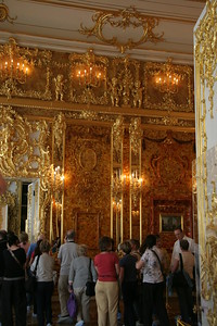 The Amber Room, inside Catherine's Palace, near St. Petersburg, Russia