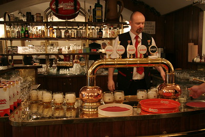 Bar serving local beer, Ceske Budejovice, Czech Republic