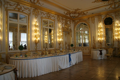 Dining room, Catherine's Palace, near St. Petersburg