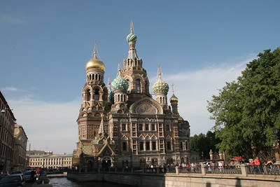 The Church of the Spilled Blood, built on the site where Tsar Alexander II was assassinated, St. Petersburg, Russia