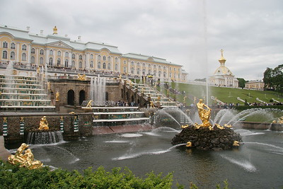 Peterhof Palace, on the Baltic, outside of St. Petersburg, Russia