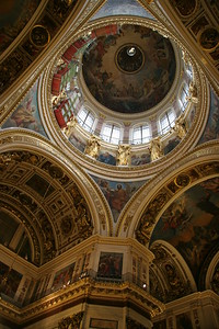 The dome and ceilings of St. Isaac's Cathedral, St. Petersburg, Russia