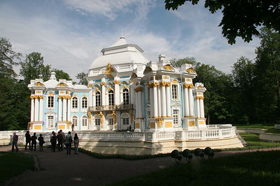 The Pavilion Hermitage, in the gardens of Catherine's Palace, near St. Petersburg, Russia