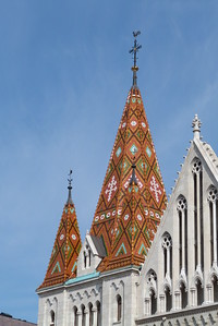Steeple of Matthias Church, Budapest, Hungary