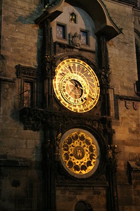 Astronomical Clock, first installed in 1410, in Prague, Czech Republic