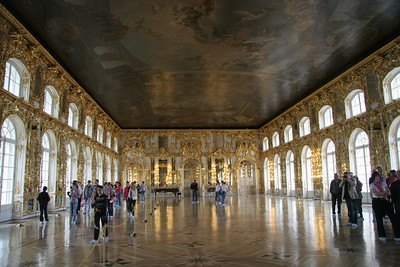 Reception Hall at Catherine's Palace, near St. Petersburg, Russia