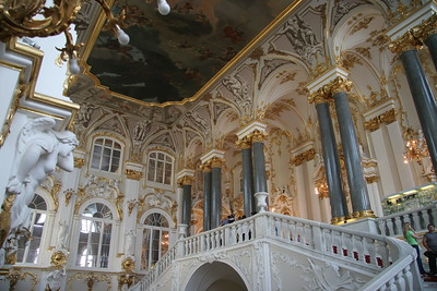 The Jordan Staircase at the entrance to the Winter Palace, St. Petersburg, Russia