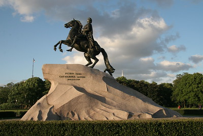 The Bronze Horseman, commissioned by Catherine the Great to honor Peter the Great, St. Petersburg, Russia