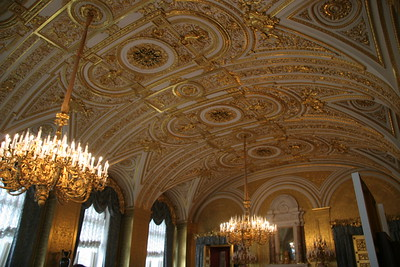 Ceiling of the Gold Drawing Room, Winter Palace, St. Petersburg, Russia