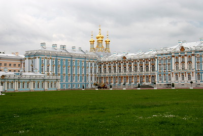 Catherine's Palace, also called Tsarskoe Selo, was the summer palace of the tsars, on the outskirts of St. Petersburg, Russia