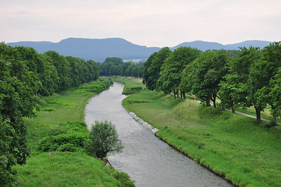 The river Nysa with the German border posts visible on the right bank (05.07.2013)