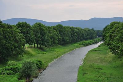 The river Nysa with the Polish border posts visible on the left bank (05.07.2013)