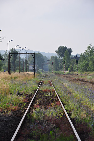 Looking south from Zawidów station towards the Czech Republic (06.07.2013)